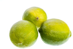 Limes on a white background Royalty Free Stock Image