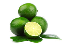 Limes on white Royalty Free Stock Image