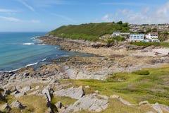 Limeslade-Bucht Gower South Wales nahe bei Armbandbucht und nahe Swansea-Stadt und den Mumbles Stockbilder