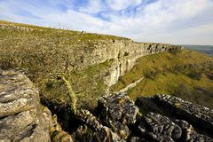 Limestone Clilffs. The Limestone Cliffs of Malham Cove Stock Photos