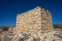 Limestone abandoned dwelling Royalty Free Stock Image
