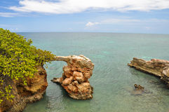 Limestone arch at Cabo Rojo, Puerto Rico Royalty Free Stock Images