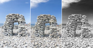 Limestone arch in Saaremaa, Estonia Stock Photography