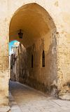 Limestone archway in Ancient town of Mdina, Malta Royalty Free Stock Image
