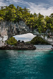 Limestone Archway in Palau Stock Photo