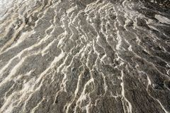 Limestone background. Striped limestone ground abstract background Royalty Free Stock Images