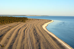 Limestone beach on the island of Gotland in Sweden, Aerial view Royalty Free Stock Photos