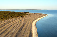 Limestone beach on the island of Gotland in Sweden, Aerial view Royalty Free Stock Image