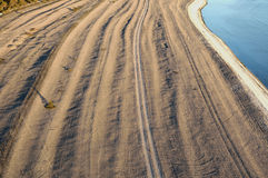 Limestone beach on the island of Gotland in Sweden, Aerial view Royalty Free Stock Photography