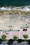 Limestone beach sliema malta royalty free stock images
