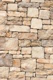 Limestone block wall Royalty Free Stock Image