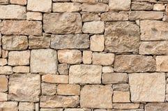 Limestone block wall Stock Photos