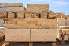 Limestone blocks Royalty Free Stock Photos