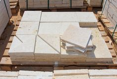 Limestone blocks Royalty Free Stock Image