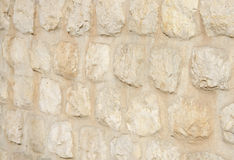 Limestone boulder wall photographed at shallow DOF Stock Photography