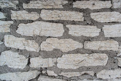 Limestone brick wall background in high resolution. Texture natural stone Royalty Free Stock Photos