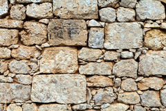 Limestone brick wall texture. Background royalty free stock photo