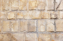 Limestone bricks background Stock Photo