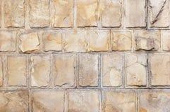 Limestone bricks background. Large limestone bricks wall grunge background Stock Photo