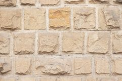Limestone bricks texture Royalty Free Stock Photos