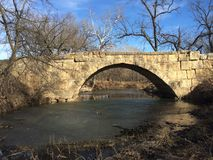 Limestone bridges. A beautiful 1800`s limestone bridge Stock Image