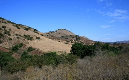 Limestone Canyon Mountains 2. Mountains and blue sky, Limestone Canyon, California Stock Photo