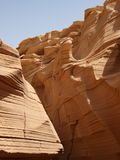 Limestone canyon in Sinai Peninsula Stock Image