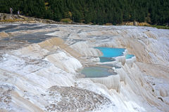 Limestone cascades in Pamukkale Royalty Free Stock Images