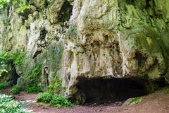 Limestone Cave Entrances. Limestone formation at Falls Ridge Preserve located in Montgomery County, Virginia, USA royalty free stock image