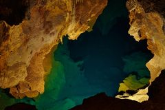 Limestone Cave. Lake inside a limestone cave Royalty Free Stock Images