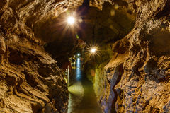 Limestone cave system royalty free stock photo