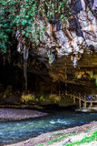 Limestone cave Tarn Lod Yai at Mae Hong Son Stock Image