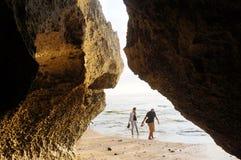 Limestone cave Stock Photography