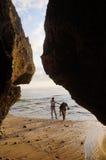 Limestone cave Stock Photo