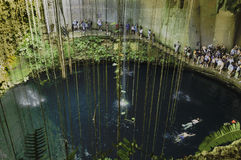 Limestone cenote Royalty Free Stock Photography