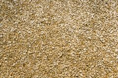 Limestone chippings. Texture full frame background close up stock image