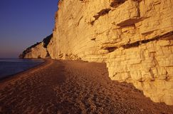 Limestone cliff Royalty Free Stock Photography