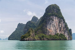 Limestone cliff of Andaman Sea islands, Phang Nga Bay,  Thailand Stock Photo