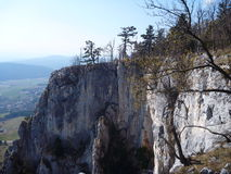 Limestone cliff of hohe wand in austria Stock Photography