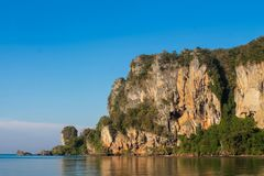 Limestone cliff in Krabi Ao Nang, Ton Sai and Phi Phi island, Thailand royalty free stock images
