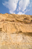 Limestone cliff Stock Images
