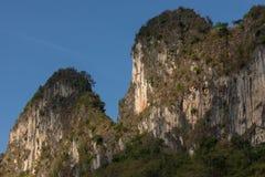 Limestone cliff mountain blue sky Stock Photography