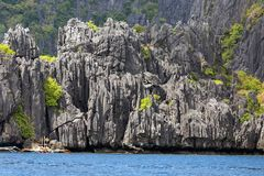 Limestone cliff in Palawan Stock Images
