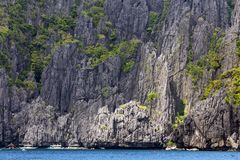 Limestone cliff in Palawan Royalty Free Stock Images