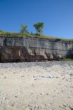 Limestone cliffs at the beach. Of the swedish island Oland in the Baltic Sea Stock Photography