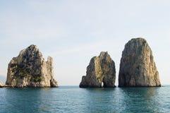 Limestone Cliffs - Capri Island - Italy Royalty Free Stock Image