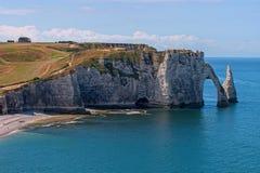 Limestone cliffs of Etretat Stock Photography