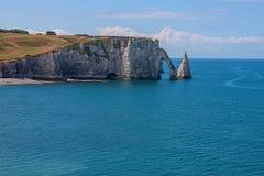 Limestone cliffs of Etretat Royalty Free Stock Image