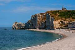 Limestone cliffs of Etretat Royalty Free Stock Photography