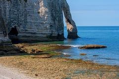 Limestone cliffs of Etretat Royalty Free Stock Images